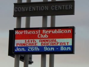 NEHCRC Pancake Breakfast Billboard