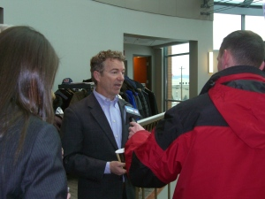 Media interviews Sen. Rand Paul (R-KY)