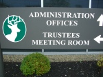 Deerfield Township Administration sign